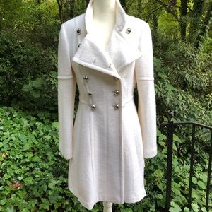 NWOT Gorgeous Guess Ivory Wool Blend Winter Coat